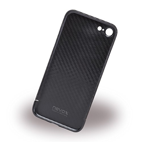 """nevox 1347 """"CarbonSeries"""" Schutzhülle ohne Logo-window für Apple iPhone 7 carbon"""