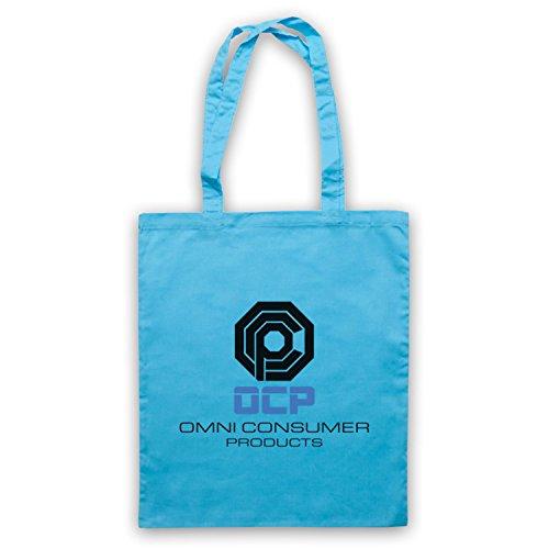 Inspiriert durch Robocop OCP Omni Consumer Products Inoffiziell Umhangetaschen Hellblau
