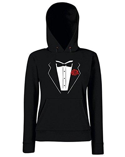 T-Shirtshock - Sweats a capuche Femme OLDENG00416 black tuxedo Noir