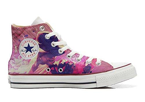 Converse Customized Chaussures Coutume (produit artisanal) Michael Jackson Style