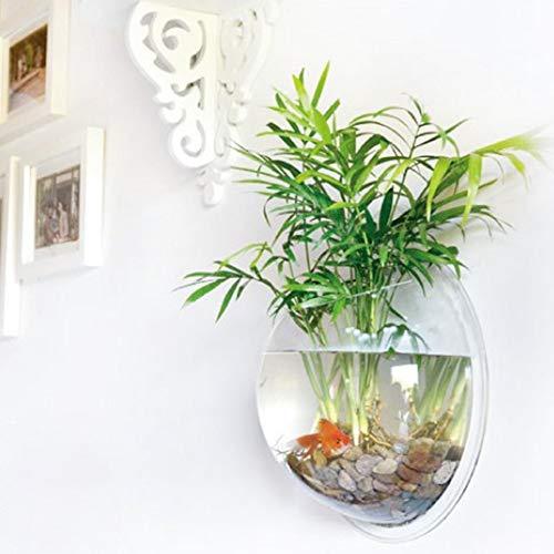 yooyoo Creative Acryl zum Aufhängen Wandhalterung Fisch Tank Schale Vase Aquarium, Pot Schale Bubble Aquarium Decor, Polyresin, farblos, 7.7 inches (Glas-schale Terrarien,)