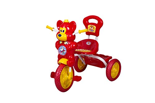 HLX-NMC KIDS FUN MOUSE MUSICAL TRICYCLE RED/YELLOW  available at amazon for Rs.1800