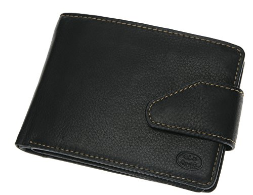OLD RIVER SELECT borsa in pelle portafoglio in vera pelle /// COLORE NERO