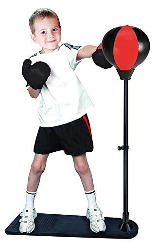 Punchingball Set für Kinder Höhenverstellbar Punching-Training Standbox Box Set Boxsäcke Boxsack-Set Kinder Standboxsack mit Boxhandschuhen Pumpe, Höhenverstellbar von 85 bis 130 cm