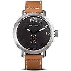Chotovelli Vintage Pilot Men's Watch Analogue display Brown leather Strap 72.02