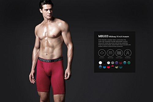 Tesla da uomo Cool Dry 22,9cm breve maglia stretch Underwear tronco (2-pack) MBU03 U-TM-MBU03-CMO