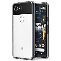 Google Pixel 2 XL Case, Ringke [FUSION] Crystal Clear PC Back TPU Bumper [Drop Protection/Shock Absorption Technology] Raised Bezels Protective Cover for Google Pixel 2 XL - Smoke Black