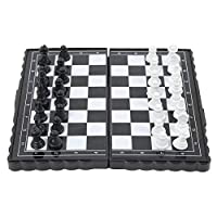 EbuyChX Magnetic Travel Chess Set with Folding Chess Board for Kids Adults MULTI
