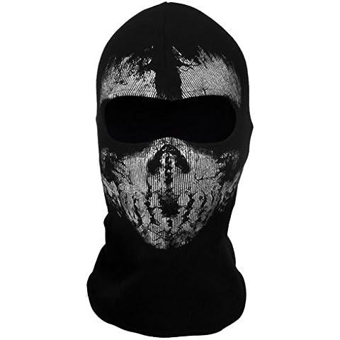 Outdoor & Sports Ehotbill pasamontañas cortavientos para se déguiser o Pratiquer del monopatín/del bicicleta diseño cráneo fantasma Terroriste Call Of