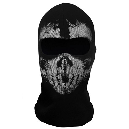 Coxeer® Geister Schädel-Maske Balaclava Hood Ghosts Skull Mask Outdoor Sports Skilaufen Wandern Full Face Mask for Men Maske für Männer (Model 4)