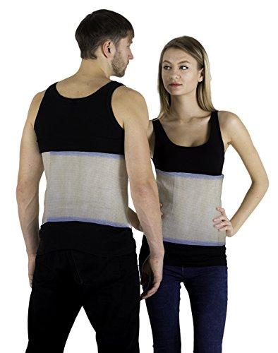 INFINITUM MEDICAL Rückenwärmer Angora & Merino Wolle für Damen und Herren - Wärmegürtel für Rücken - Nierenwärmer Hüftwärmer Leibwärmer - Hält beim Sport den Rücken Warm und Dient als Nierenschutz (L)