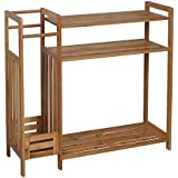 ASPECT 80 x 26 x 77.5 cm Bamboo 3-Tier Natural Bamboo Wooden Shoe Rack Storage Organizer with Umbrella Holder, Bamboo