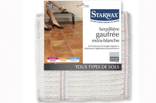 Serpillière gaufrée extra-blanche - STARWAX