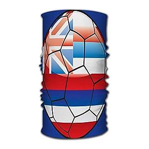 Kkyoxdiy Men & Women Bandana Face Sun Mask Hawaii Flag On Soccer Ball Headwear Great for Men & Women