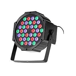 tempo di saldi Faro Rgb 36W Faretto 36 Led Vari Colori Discoteca Sensore Sonoro Luce Colorata