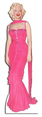 Pappaufsteller Marilyn Monroe Pink Dress Standup Figur Kinoaufsteller Pappfigur Cardboard Lebensgroß Life-Size (Dress Monroe Marilyn Pink)