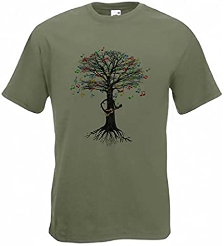 Ukulele T-shirt Musical Tree Country, folk, Irish in all sizes
