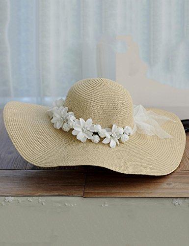 Chapeau de soleil décontracté à la mode Chapeau de couronne de vacances au bord de la mer ( Couleur : 1 ) 2