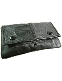 w Quality Super Soft Real Leather Tabacco Pouch Flap Purse Wallet Purse