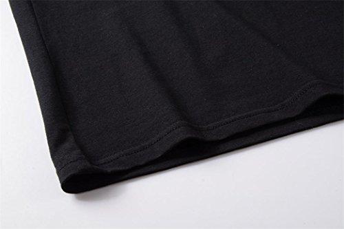 Yeesea Donne maglietta del manicotto corto camicetta di estate t shirt Nero