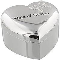 Amore argentato cuore Trinket Box - damigella d