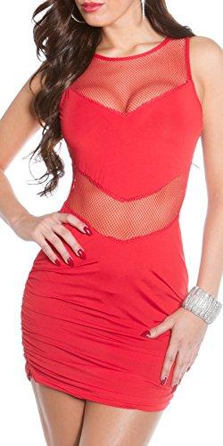 Sexy Hot KouCla Minikleid mit Netz Koucla by In-Stylefashion SKU 0000K1833401 Rot