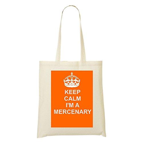 Mercenary (lavoro/carriera) cotone Borsa in cotone naturale design borsa a spalla, Ivory/Orange, Arancione