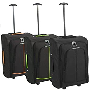 Karabar Super Lightweight Cabin Approved Luggage Bag 55 x 35 x 20 cm, 40 Litres, 1.5 kg, 3 Years Warranty! by Karabar