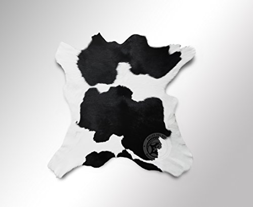 Teppich Kuhfell Färsenleder Farbe: Schwarz & Weiß, Größe circa 95 x 70 cm Premium - Qualität von Pieles del Sol aus Spanien