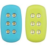 motion-powered Safety Light (2Pack) für Laufen Joggen oder Dancing. LED Clips Licht Außen Reflektierende Gear für Läufer Jogger Pets Hunde Kinder Dancer. 15Lumen (grün & blau)