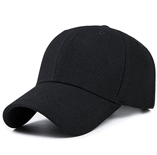 MoohMaya® Baseball Black Cap For Men and Women Cool Sporting | Top Quality, 100% Comfortable Sports Caps | Perfect For Running, Workouts and Outdoor Activities