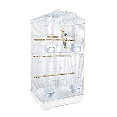 Rainforest St Lucia Cage, White by Sky Pet Products