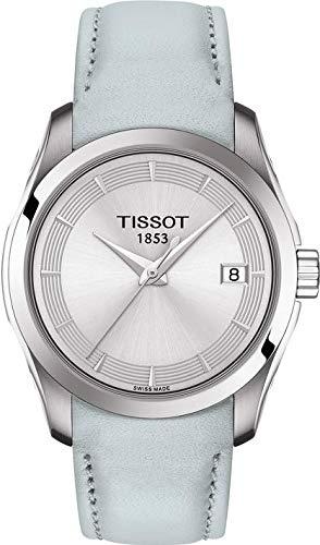 Tissot Damen-Uhren Analog Quarz One Size Leder 87573818