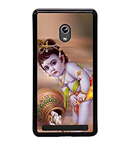 Fuson Premium 2D Back Case Cover Lord krishna With Brown Background Degined For Asus Zenfone 5::Asus Zenfone 5 A500CG