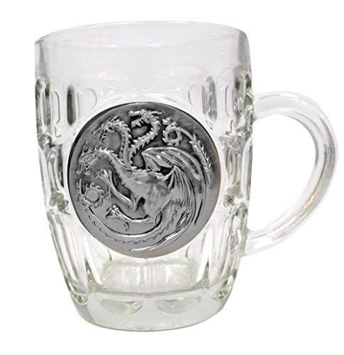 Sd TJarra Cristal Escudo Metálico Targaryen