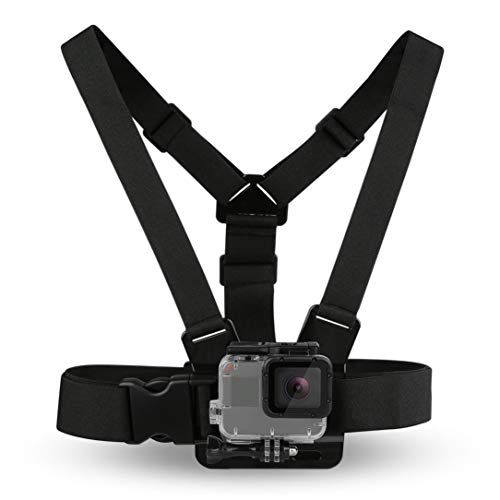 Black Durable Ultra Immersive Adjustable Harness Chest Strap Mount Chest Strap Mount Belt for Gopro Camera Chest Mount Harness