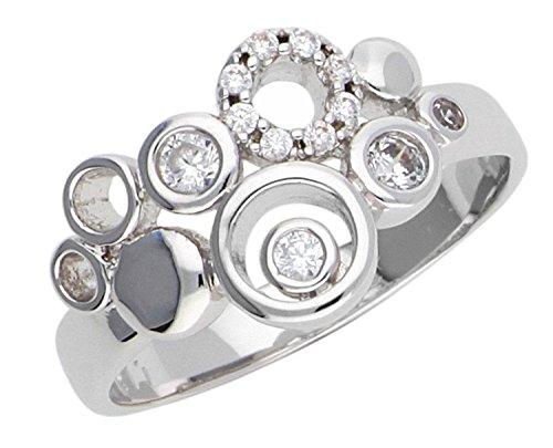 Esprit Damen-Ring JW50230 Messing Zirkonia weiß Brillantschliff Gr. 57 (18.1) - ESRG02866A180