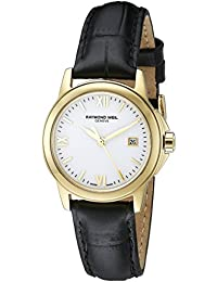 RAYMOND WEIL WOMEN'S TRADITION 26MM LEATHER BAND QUARTZ WATCH 5376-P-00307