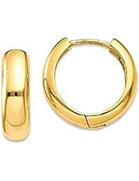 ICE CARATS 14k Yellow Gold Huggie Hoop Earrings Ear Hoops Set Fine Jewelry Gift Set For Women Heart