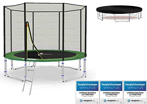 Lifestyle ProAktiv LS-T305-PA10 (GW) Garten- Trampolin 305 cm - 10ft - Extra Starkes Sicherheitsnetz - Neu