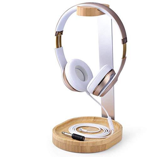 Avantree Headset Stand Cuffie Supporto Legno & Alluminio con Ferma Cavo per Sony, Bose, Shure, Jabra, JBL, AKG, Cuffia per Gaming e Cuffie Display - Universale [2 Anni di Garanzia]