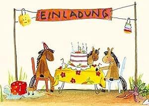 Einladungskarten kindergeburtstag pferde k che for Amazon einladungskarten