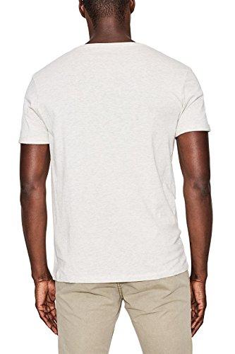 edc by ESPRIT Herren T-Shirt 067cc2k018 Weiß (Off White 110)