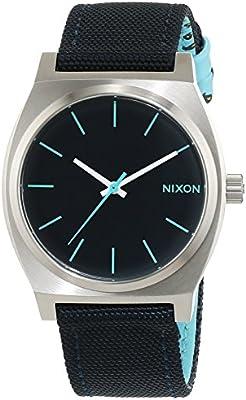 Nixon Time Teller Navy / Paisley Dot A0451985-00 - Reloj para mujeres, correa de tela color azul