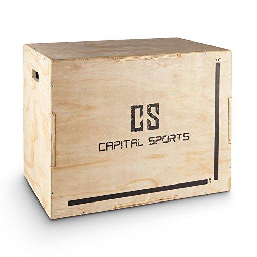 Capital Sports Shineater Plyo-Box Jump Box pour entraînement plyométrique (3 hauteurs 20', 24',...