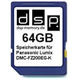 DSP Memory Z-4051557411272 64GB Speicherkarte für Panasonic Lumix DMC-FZ200EG-K