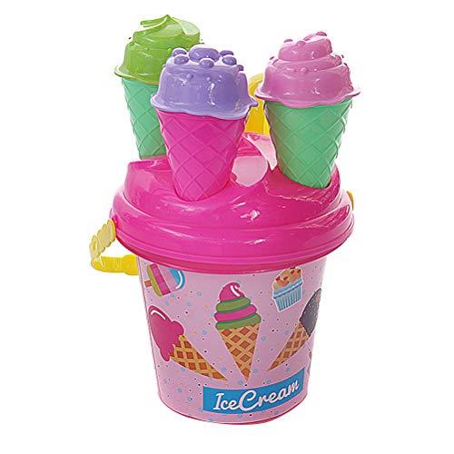 Descripción  Deja que tus hijos se diviertan en la playa mientras preparas una variedad de helados, conos de helado, cupcakes e incluso muffins con este juego de 16 cubos de Ice Cream Beach. ¡Esencial compañero de playa en verano! ¡Construye tu propi...