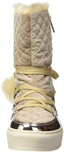 Cafè Noir Donna Sneaker LFB902094F8 FB902 MONBOOT IN VELLUTO E POMPON IN PELL Beige