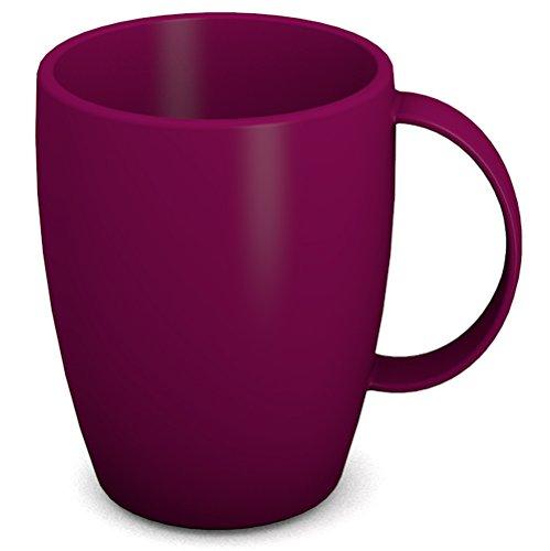 enkel 260 ml brombeer | hochwertiger, stabiler Kaffeebecher aus Kunststoff mit Henkel | robustes Alltags-Geschirr für Zuhause, Büro, Camping, Picknick, Gemeinschaftsverpflegung, Großküchen, Institutionen  | Kaffeetasse, Mehrweg-Becher (Kunststoff-becher Mit Henkel)