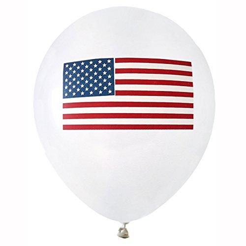 NEU Luftballon USA, 8 Stück, Ø 23 (Usa Kostüme Party)